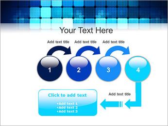 Blue Squares Abstraction Modèles des présentations  PowerPoint - Diapositives 4