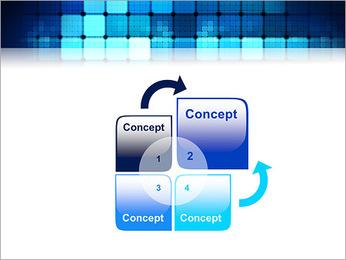 Blue Squares Abstraction Modèles des présentations  PowerPoint - Diapositives 5