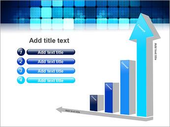 Blue Squares Abstraction Modèles des présentations  PowerPoint - Diapositives 6