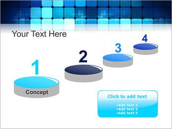 Blue Squares Abstraction Modèles des présentations  PowerPoint - Diapositives 7