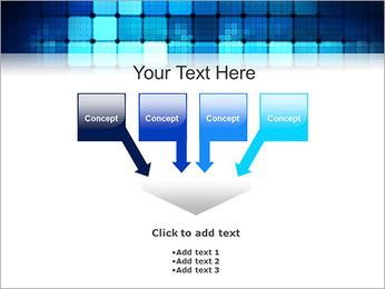 Blue Squares Abstraction Modèles des présentations  PowerPoint - Diapositives 8