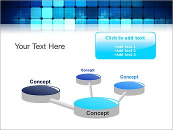 Blue Squares Abstraction Modèles des présentations  PowerPoint - Diapositives 9