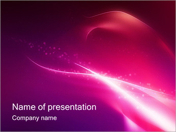 Tender Lilac Abstract Design PowerPoint Template