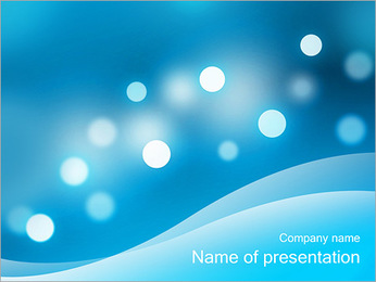 Abstract Light Dots PowerPoint Template