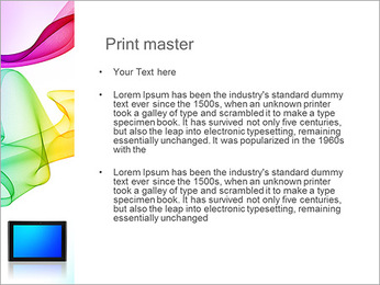 IPad On Abstract Background PowerPoint Template - Slide 24