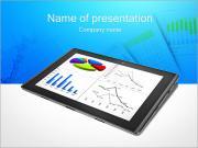 Chart On IPad Screen PowerPoint Templates