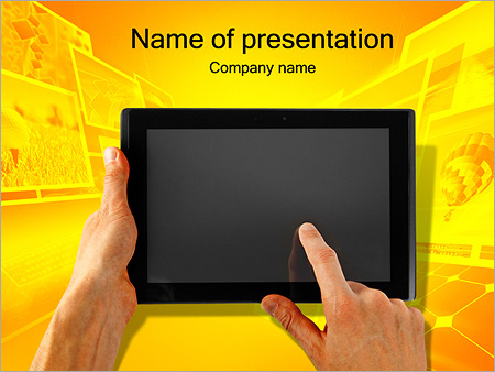 Ipad on yellow background powerpoint template backgrounds google ipad on yellow background powerpoint template toneelgroepblik Images
