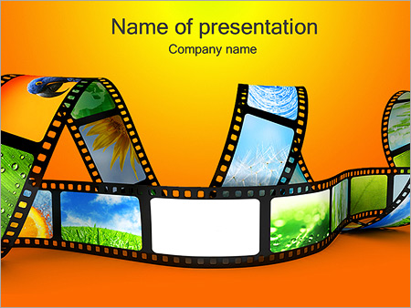 Film on yellow background powerpoint template backgrounds google film on yellow background powerpoint template toneelgroepblik Images