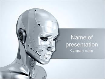 Steel Robot PowerPoint Template