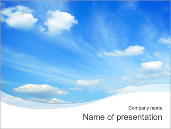 Clear Blue Sky PowerPoint Template