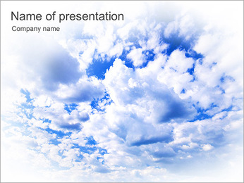 Blue Sky With White Clouds PowerPoint Template
