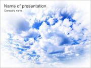 Blue Sky With White Clouds PowerPoint Templates