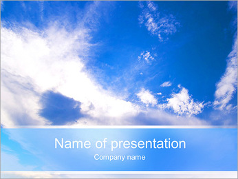 Endlessness Of The Sky PowerPoint Template