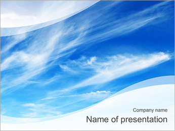High In The Sky PowerPoint Template