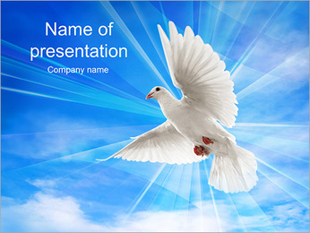 Dove In The Sky PowerPoint Template