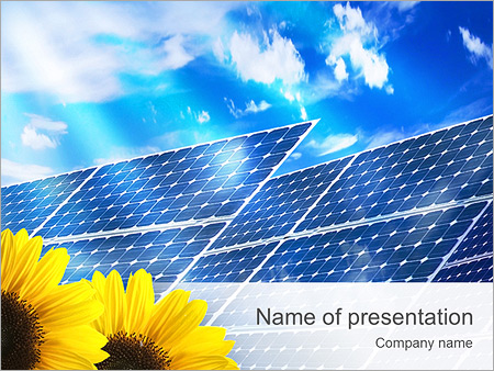 solar panel powerpoint template & backgrounds id 0000003347, Powerpoint templates