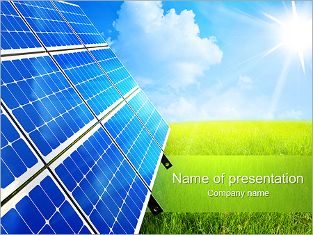 Solar Panel Powerpoint Template | Solar Panel In The Field Powerpoint Template Backgrounds Google
