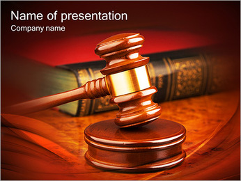 Judge Hammer PowerPoint Template