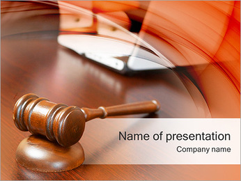 Hammer At Court Hearing PowerPoint Template