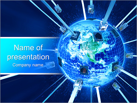 global connection powerpoint template & backgrounds id 0000003370, Modern powerpoint