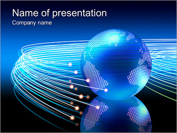Universal Connection PowerPoint Template - Slide 1