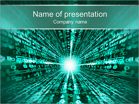 information matrix powerpoint template & backgrounds id 0000003375, Powerpoint templates