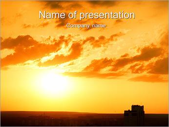 Coucher de soleil incroyable Modèles des présentations  PowerPoint