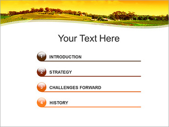 Campagne Paysage Modèles des présentations  PowerPoint - Diapositives 3