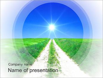 Long Road Sur le terrain Modèles des présentations  PowerPoint