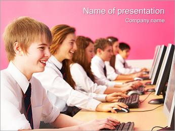Interesting Computer Class PowerPoint Template