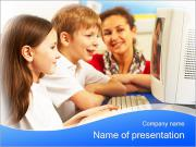 Computer Class At School PowerPoint Templates