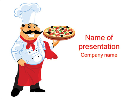 italian chef cook powerpoint template & backgrounds id 0000003411, Modern powerpoint