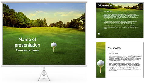 Golf course powerpoint templates and poweredtemplate mandegarfo golf course powerpoint templates and poweredtemplate toneelgroepblik Gallery