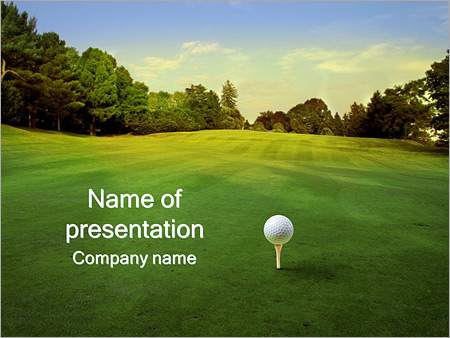 Golf ball powerpoint template backgrounds id 0000003412 golf ball powerpoint templates toneelgroepblik Image collections