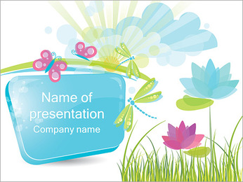 Cute Nature Picture PowerPoint Template