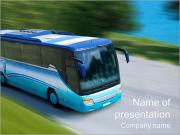 Driving Bus PowerPoint Templates