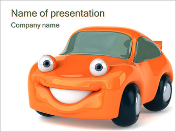 Smiling Car PowerPoint Template