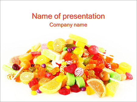 Mix Of Candies PowerPoint Template