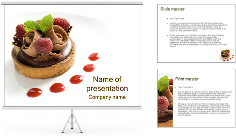chocolate cake powerpoint template backgrounds id 0000003425. Black Bedroom Furniture Sets. Home Design Ideas