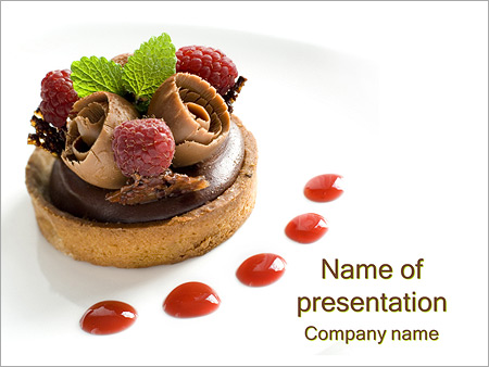 Pastry powerpoint template smiletemplates chocolate cake powerpoint templates toneelgroepblik Images