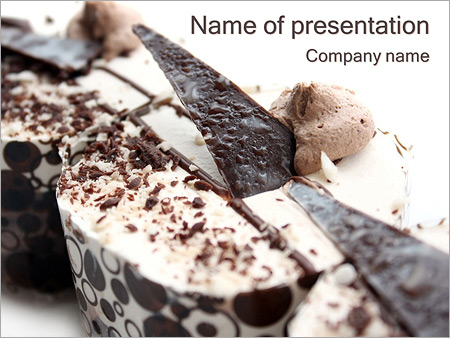 chocolate dessert powerpoint template amp backgrounds id