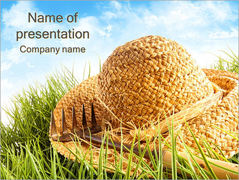Straw Hat PowerPoint Template
