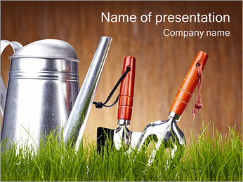 Garden Equipment PowerPoint Template