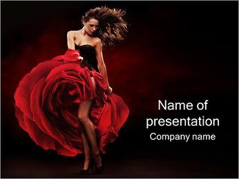 Dancing Woman PowerPoint Template