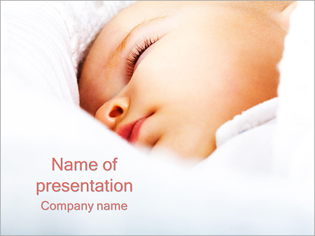 Pediatrics powerpoint template smiletemplates sleeping baby powerpoint template toneelgroepblik Images