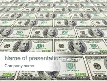 Plenty of US Dollars PowerPoint Template