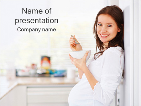 Pregnant powerpoint template smiletemplates healthy diet for pregnant women powerpoint template toneelgroepblik Gallery