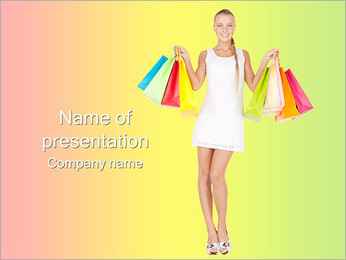 Happy Shopping PowerPoint Template