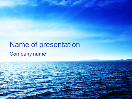 Blue sea powerpoint template backgrounds id 0000003476 blue sea powerpoint template toneelgroepblik Gallery