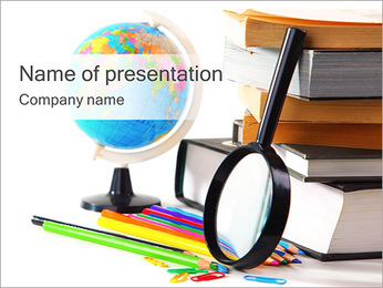 Geography Books PowerPoint Template